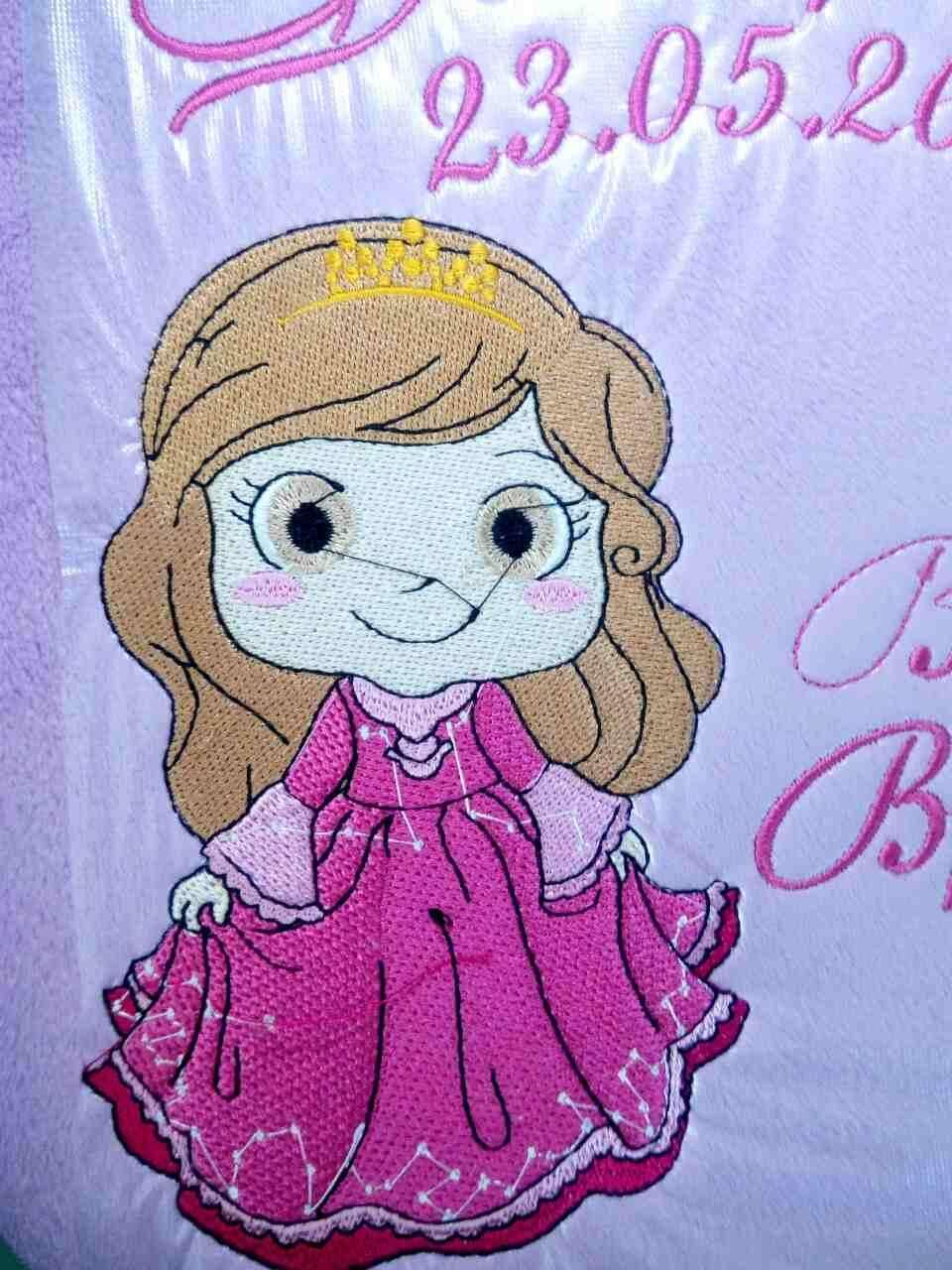 Like a princess embroidery design