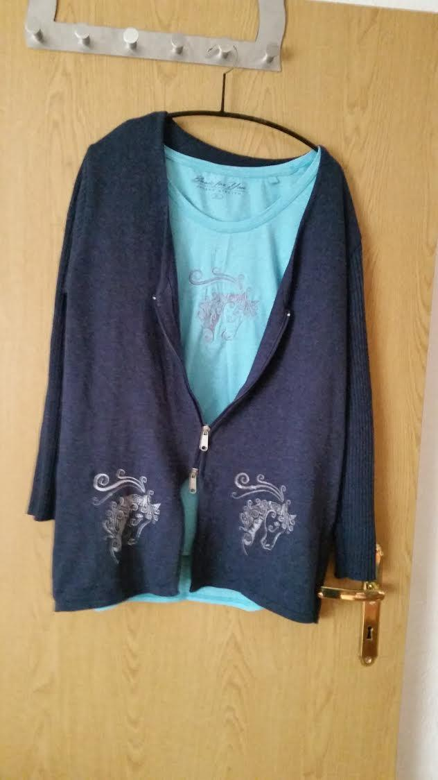Embroidered set of clothes with horse head