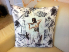 Embroidered cushion with Houslistka