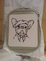 In hoop Bulldog free embroidery design
