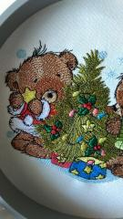 In hoop Christmas bear embroidery design