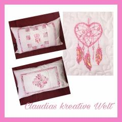 Cushion with dreamcatcher embroidery design