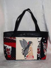Bag with Sexy fairy free embroidery design