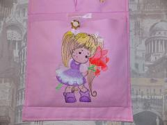 Bag with Pretty girl free embroidery design