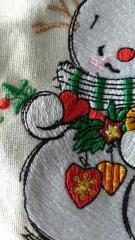 Fragment of snowman embroidery design