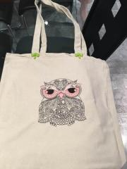 Owl redwork free embroidery design 2