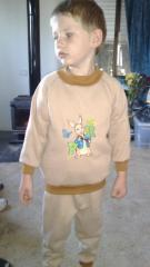 Embroidered sweater with Peter Rabbit embroidery design