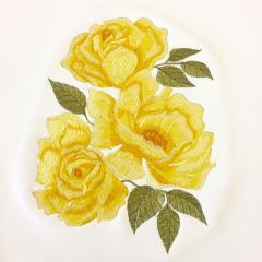 Yellow rose free embroidery design