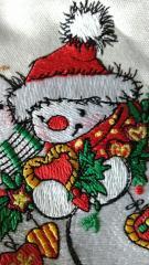 Snowman in cap embroidery design