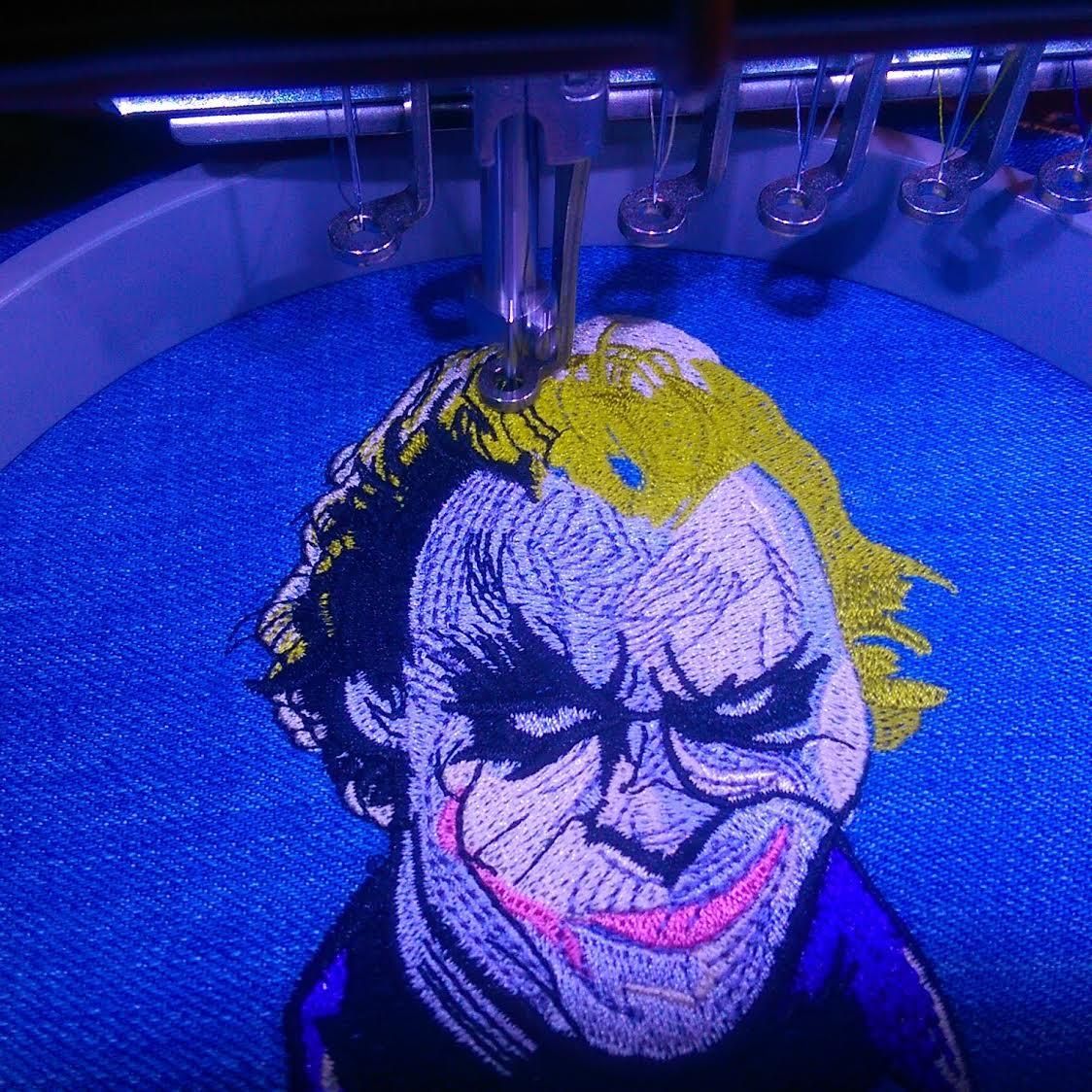 Joker's smirk embroidery design