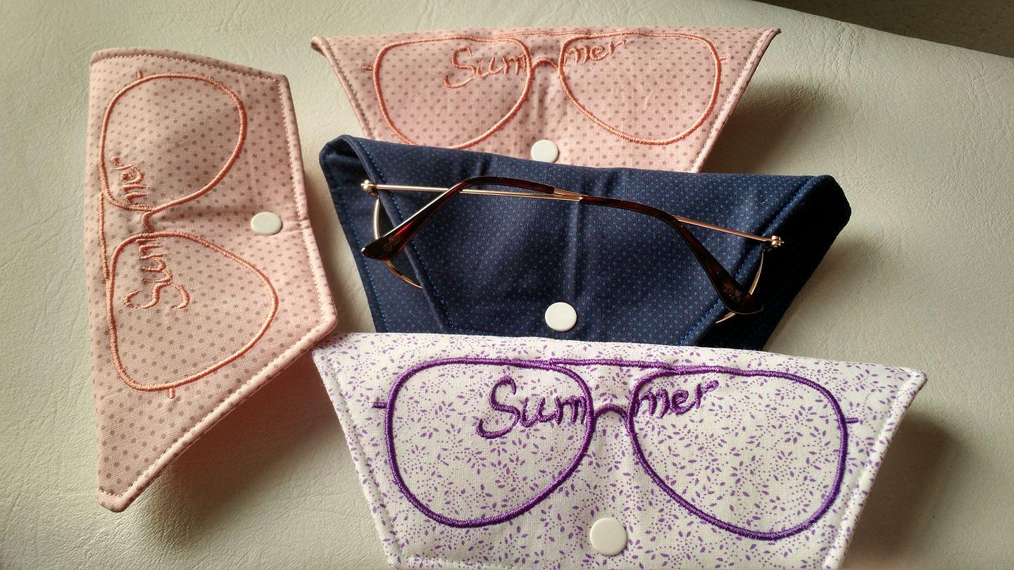 Embroidered sunglasses cover