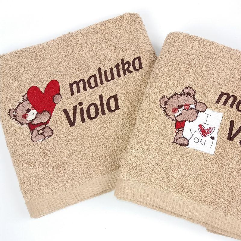 Embroidered towels with Teddy Bears