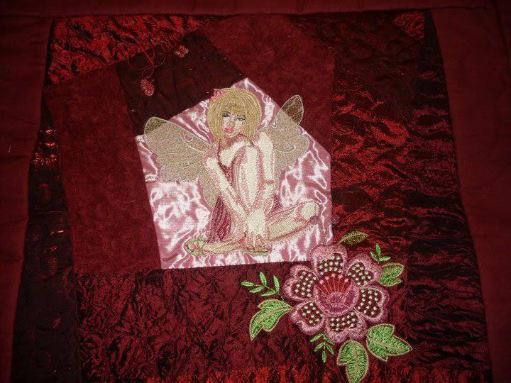 Light fairy embroidery design