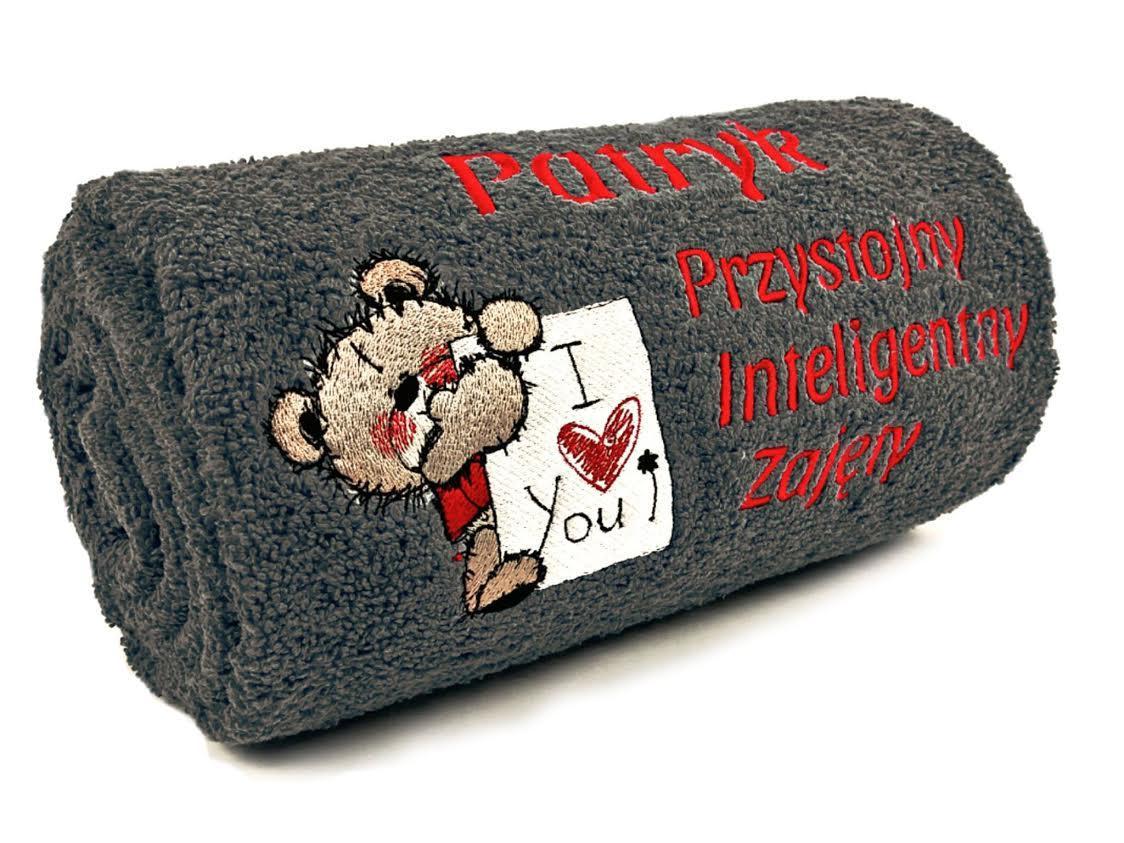 Teddy Bear embroidered towel