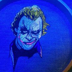 In hoop Close up joker's smirk embroidery design