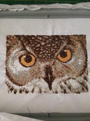 Embroidered owl photo stitch free embroidery