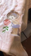Baby angel embroidery design