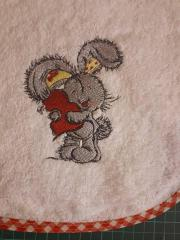 Bunny with the heart embroidery design