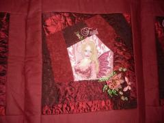 Embroidered bed cover with fairy design