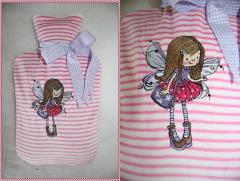 Embroidered case with little fairy design