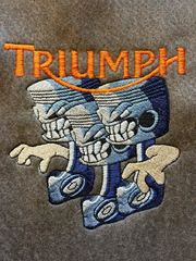 Embroidered logo Triumph motorcycle