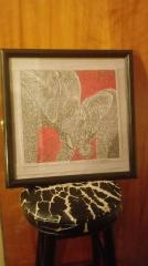 Embroidered picture with two elephants free design