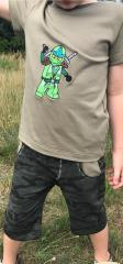 Embroidered t-shirt with Lego Ninjago design