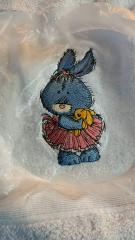 Making bunny in tutu skirt embroidery design