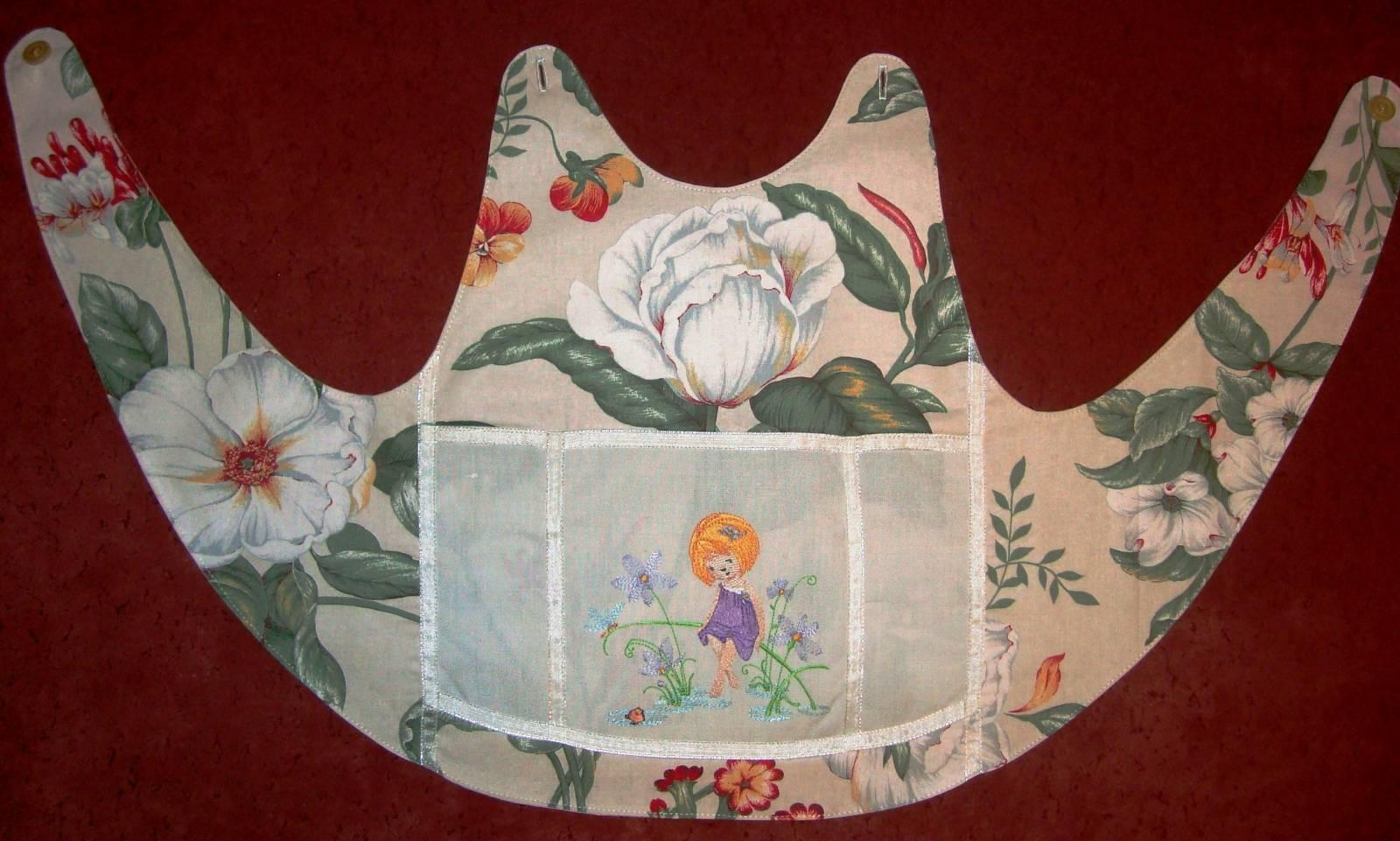 Apron embroidered with the baby machine embroidery design