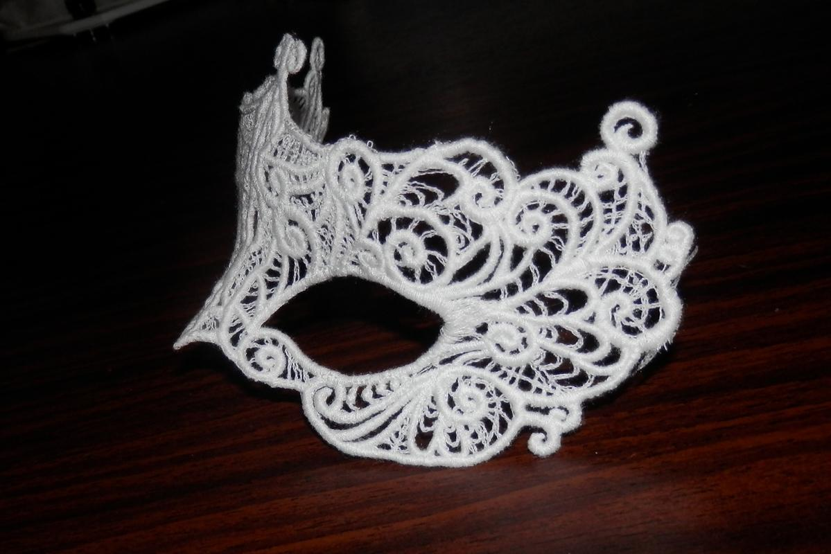 Mask for the mysterious image machine embriodery design