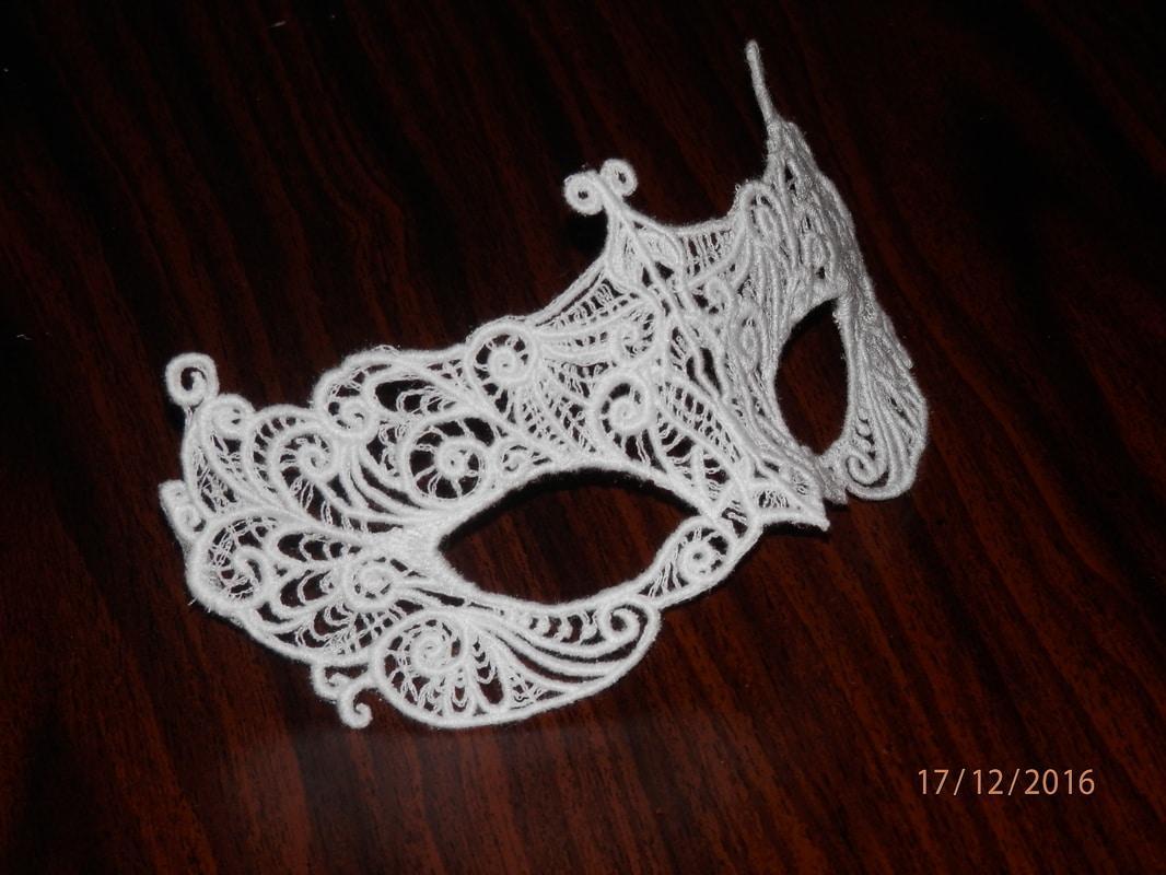 Masquerade mask machine embroidery design