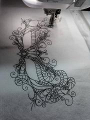 Elegant lace mask machine embroidery design