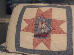 Quilt Wind in sails free machine embroidery design