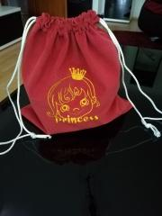 Embroidered backpack with little princess free design