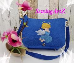 Embroidered bag with little angel design