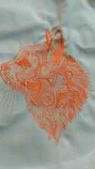Lace cat embroidery design
