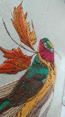 Siberian rubythroat embroidery design