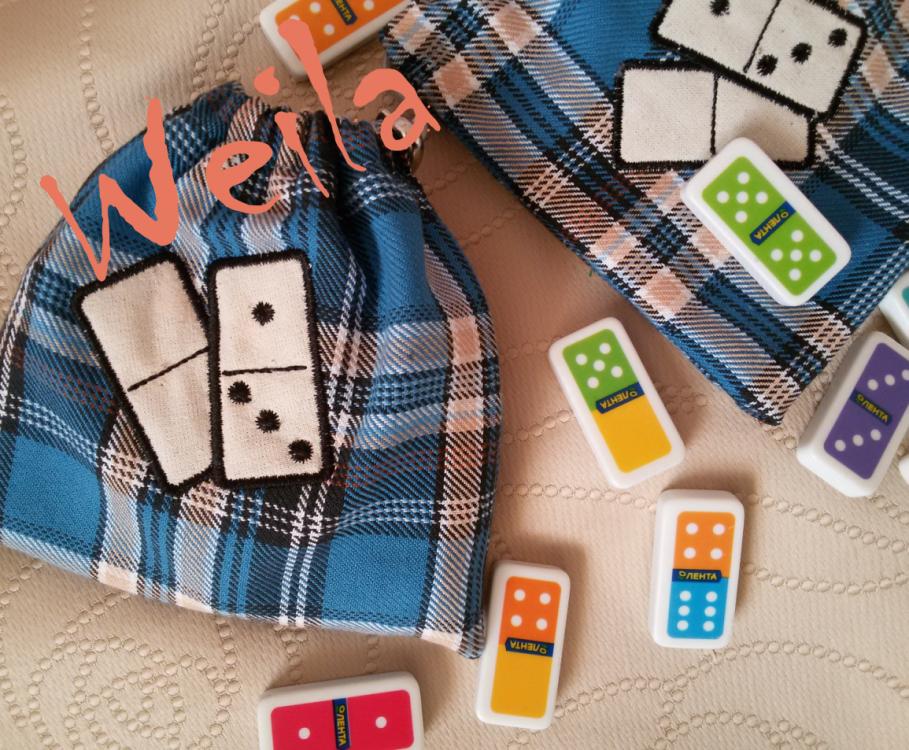 Domino game free embroidered design