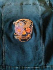 Flower skull embroidery design