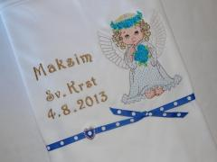 Newborn gift with Little angel embroidery design