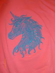 Mosaic unicorn embroidery design