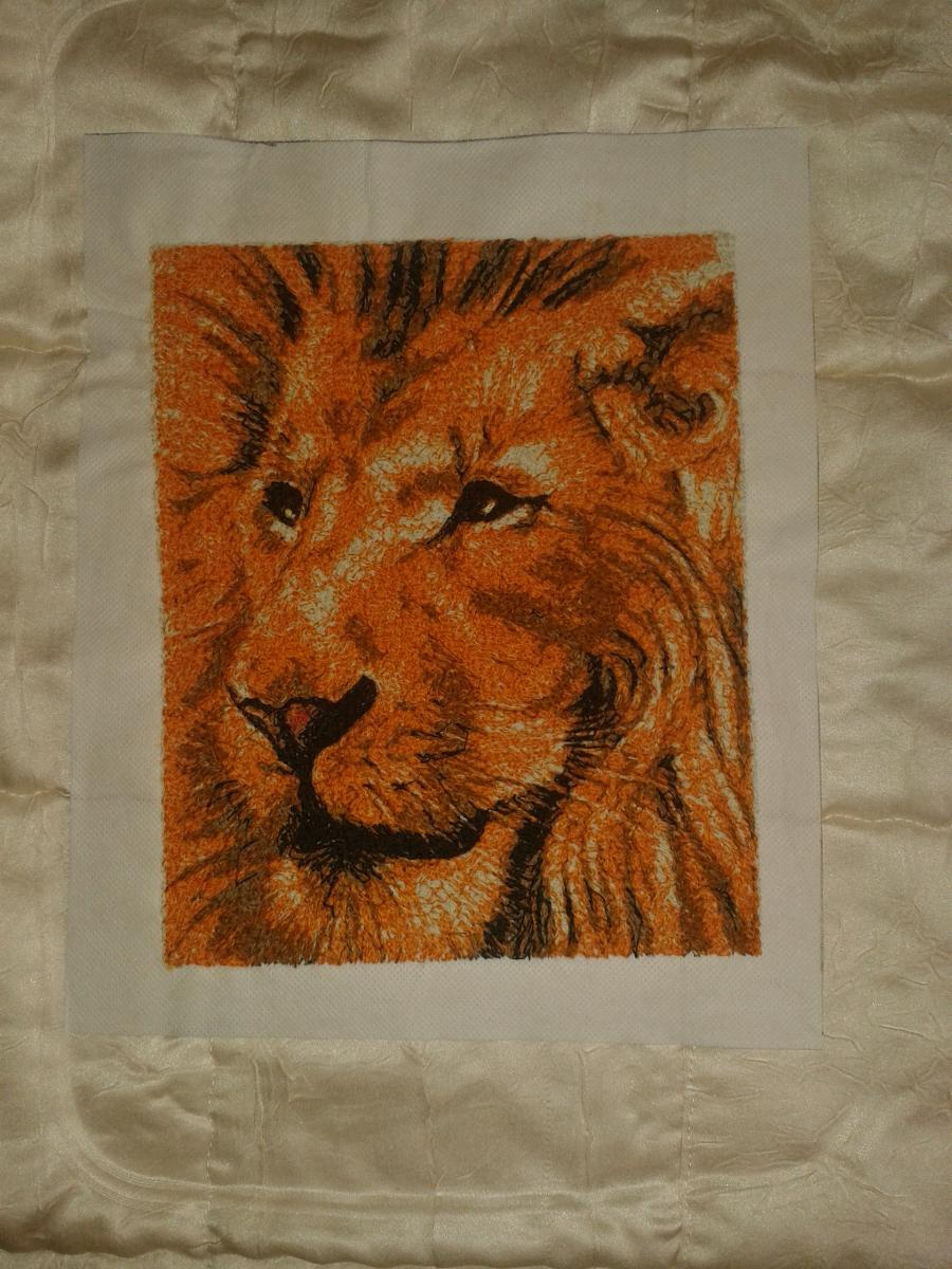 Lion photo stitch free embroidery design