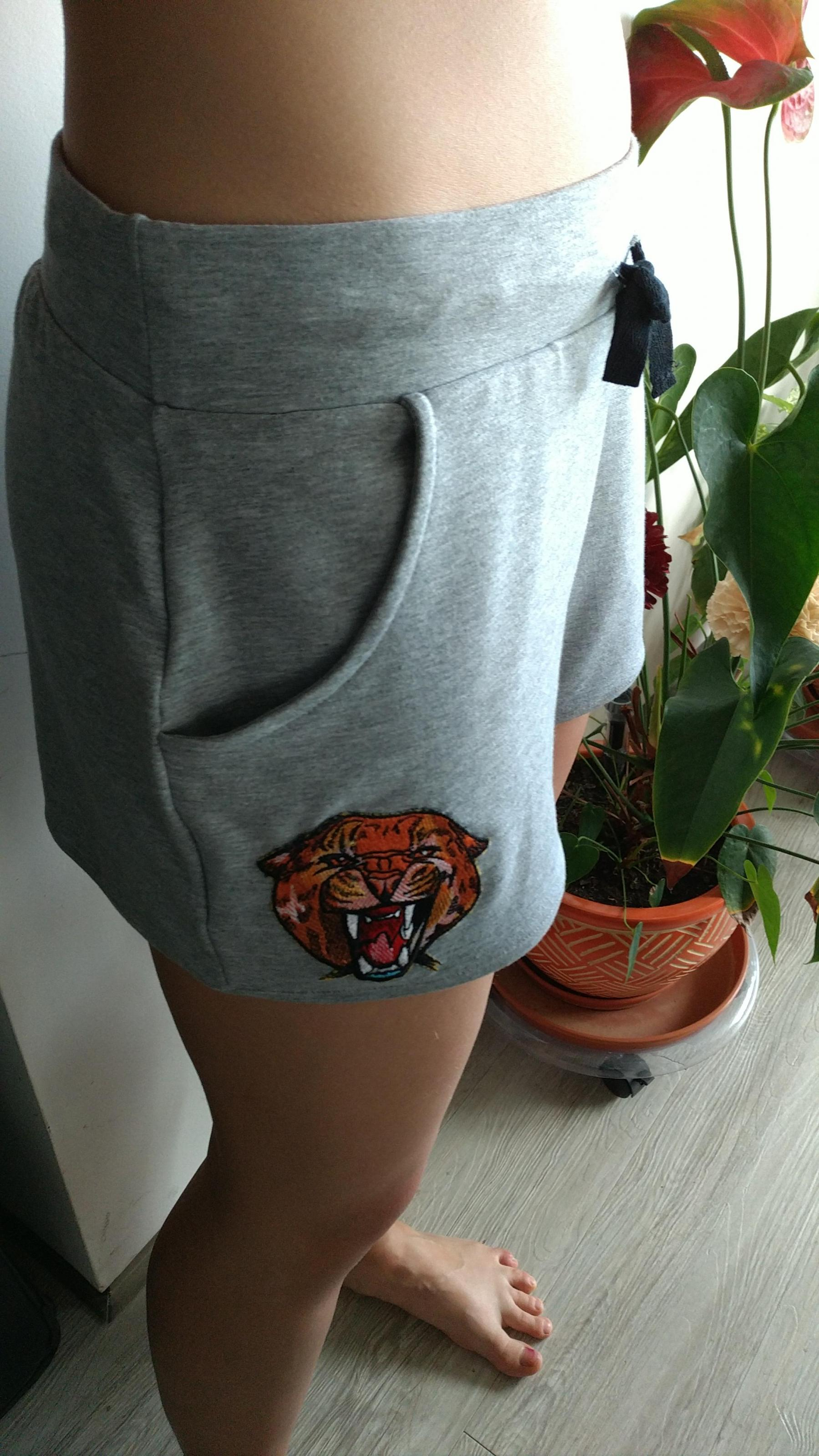 Embroidered shorts the wild cheetah design