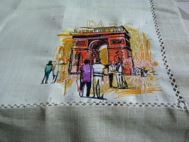 Showcase with different style embroidery