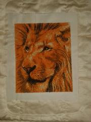 Lion photo stitch free embroidery design