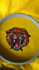 Wild cheetah embroidery design on the hoop
