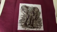 Wild elephant embroidery design