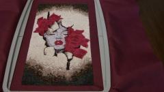 Awakening woman embroidery design