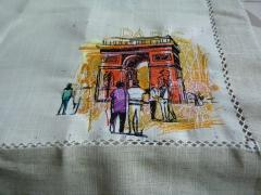 Arc de Triompe in Paris embroidery design