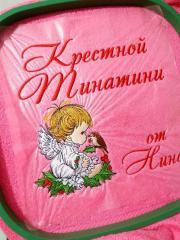 In hoop Christmas angel embroidery design